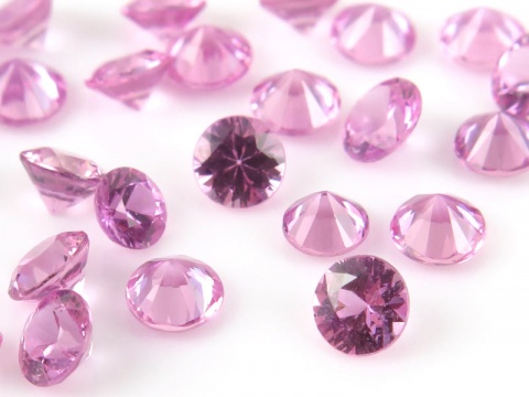 Pink Sapphire Faceted Round 3mm