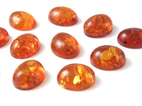 Amber Oval Cabochon ~ Various Sizes