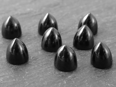 Black Spinel Bullet Cabochon 5mm