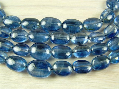 Kyanite Smooth Oval Beads 6-10mm