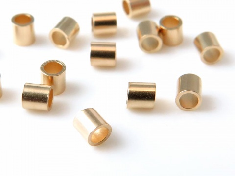 14K Gold Crimp 2mm x 2mm