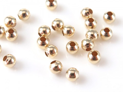 14K Gold Round Bead 2mm