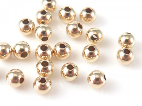 14K Gold Round Bead 3mm