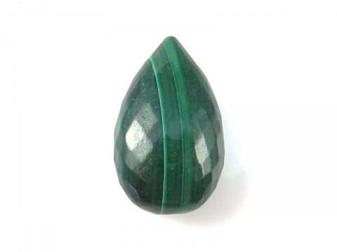 AAA Malachite Faceted Pear Briolette 16-17mm ~ SINGLE