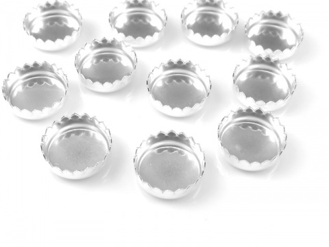 Sterling Silver Serrated Bezel Cup Setting 8mm