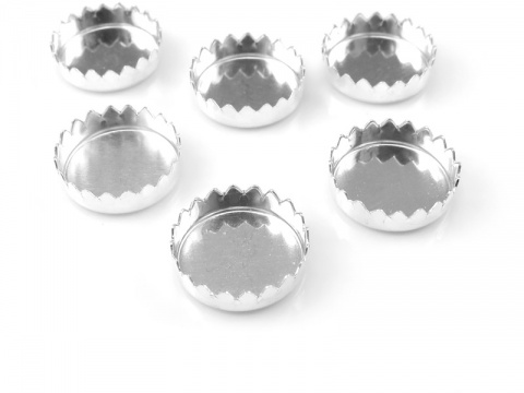 Sterling Silver Serrated Bezel Cup Setting 10mm