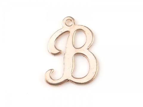 Gold Filled Alphabet Charm 12mm ~ B