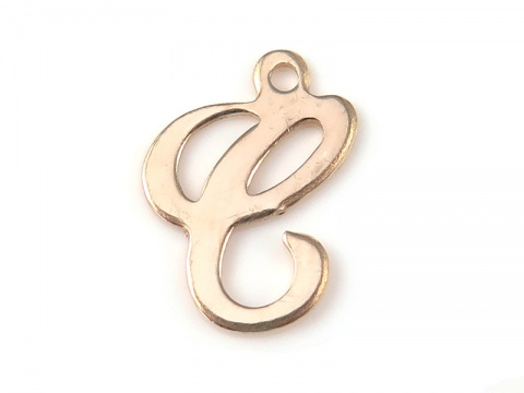 Gold Filled Alphabet Charm 12mm ~ C