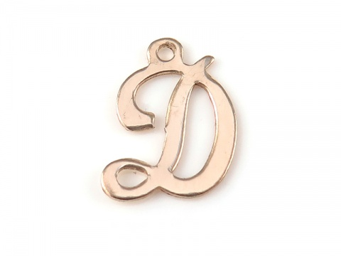 Gold Filled Alphabet Charm 12mm ~ D