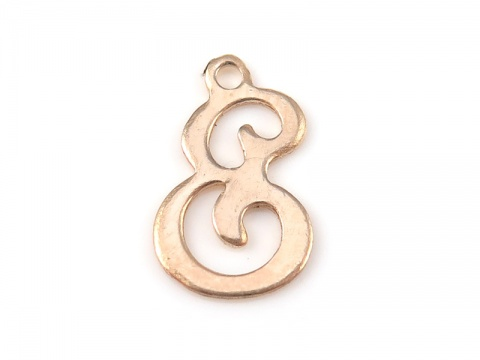 Gold Filled Alphabet Charm 12mm ~ E