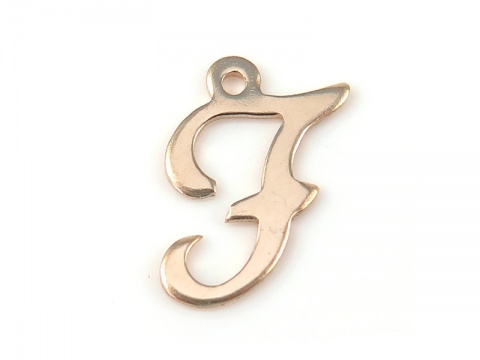 Gold Filled Alphabet Charm 12mm ~ F