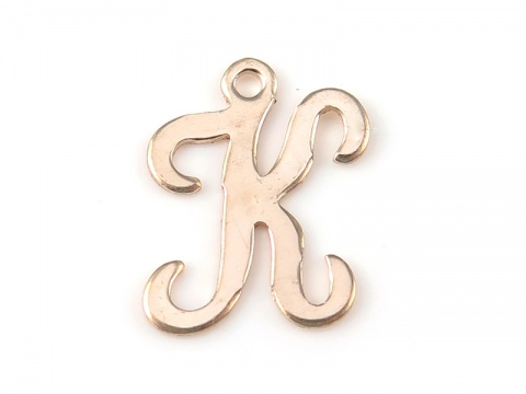 Gold Filled Alphabet Charm 12mm ~ K