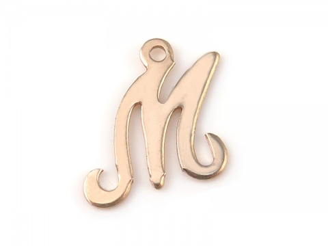Gold Filled Alphabet Charm 12mm ~ M