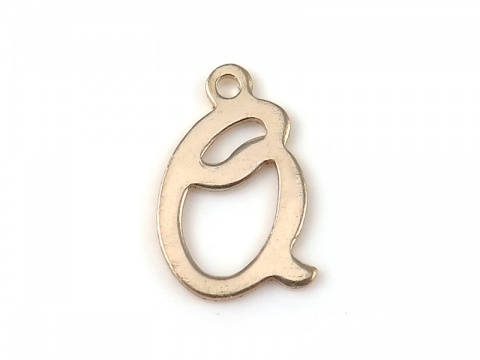 Gold Filled Alphabet Charm 12mm ~ Q