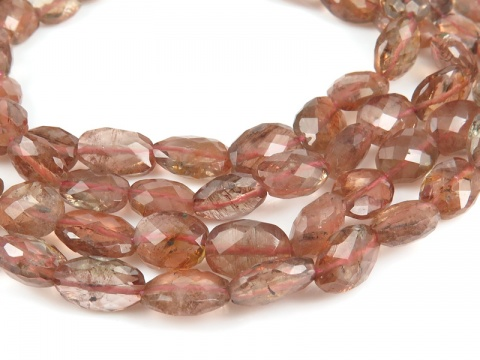 AA Andalusite Faceted Oval Beads 7-10mm ~ 15.5'' Strand