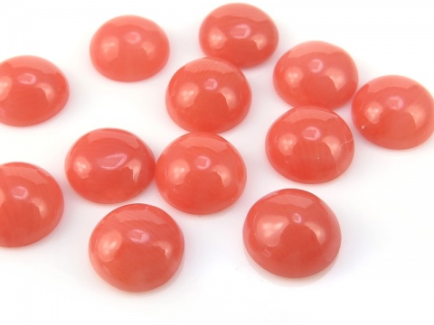 Pink Coral Round Cabochon ~ Various Sizes