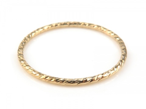 Gold Filled Sparkle Stacking Ring 17.7mm ~ Size J