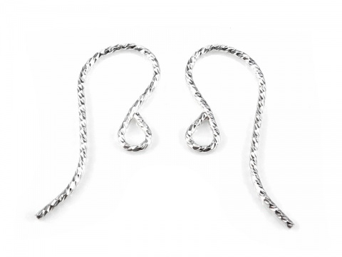 Sterling Silver Sparkle Ear Wire ~ PAIR