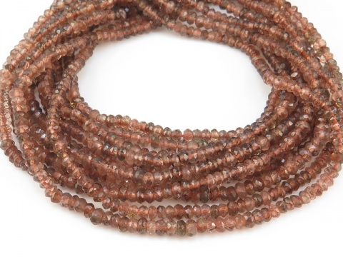 AA Andalusite Micro-Faceted Rondelles 3mm ~ 13'' Strand