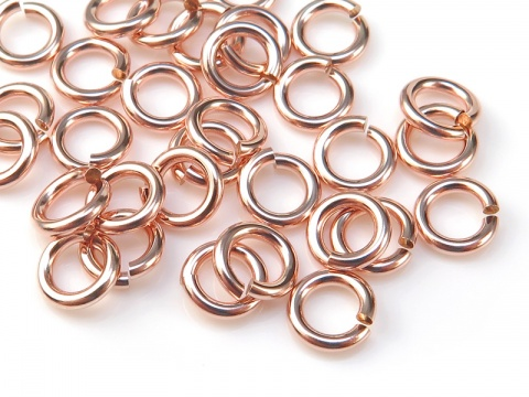 Rose Gold Filled Open Jump Ring 5mm ~ 18ga ~ Pack of 10