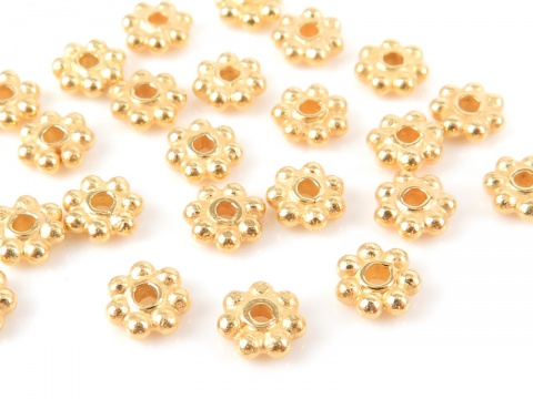 Gold Vermeil Daisy Spacer ~ Various Sizes