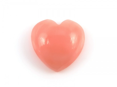 Pink Coral Heart Cabochon ~ Various Sizes