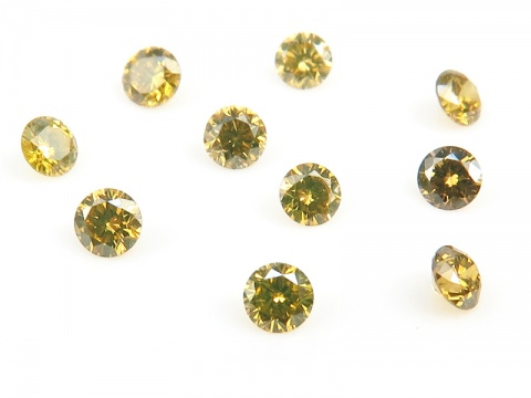 Yellow Diamond Faceted Round ~ Various Sizes