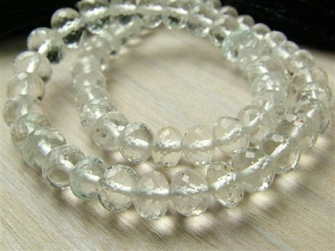 AAA White Topaz Micro Faceted Rondelles ~ Various Sizes ~ 8.25'' Strand