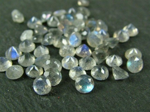 Labradorite Faceted Round ~ Various Sizes