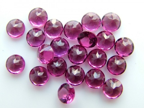 Rhodolite Garnet Faceted Round ~ Various Sizes