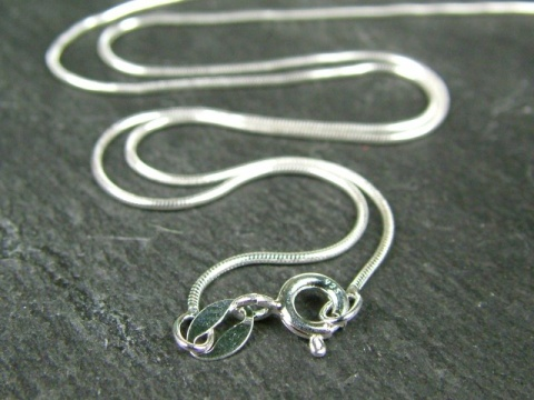 Sterling Silver Snake Chain (0.75mm) Necklace with Spring Clasp ~ 16''