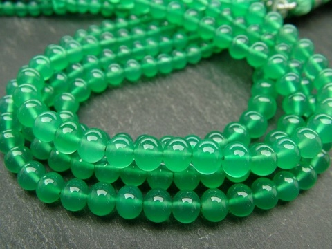 AAA Green Onyx Smooth Rondelles 3.5-5mm ~ 8'' Strand