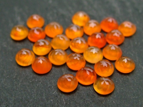 Carnelian Rose Cut Round Cabochon ~ Various Sizes