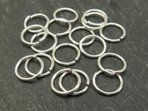 20 Sterling Silver Filled Open Jump Rings 7mm 20ga