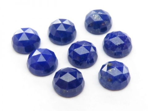 Lapis Lazuli Rose Cut Round Cabochon ~ Various Sizes