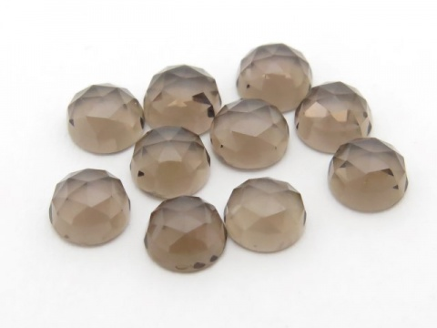 Smoky Quartz Rose Cut Round Cabochon ~ Various Sizes