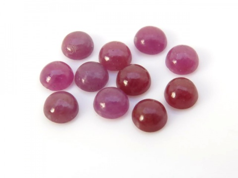 Ruby Round Cabochon ~ Various Sizes