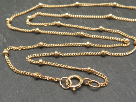 Gold Filled Satellite Chain Necklace with Spring Clasp ~ 16''