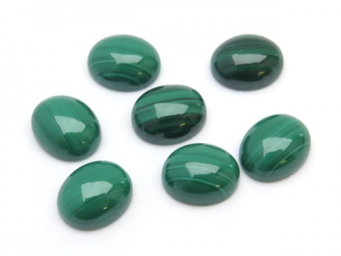Malachite Oval Cabochon 10mm x 8mm