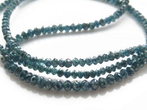 Blue Diamond Faceted Beads 1.75-2.75mm ~ 15.5'' Strand