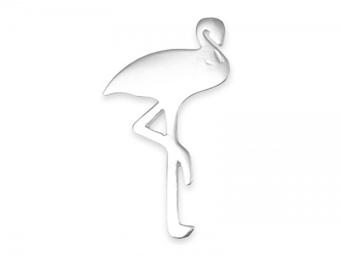 Sterling Silver Flamingo Pendant 24mm