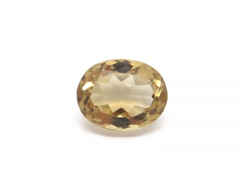 Champagne Citrine Faceted Oval 10mm