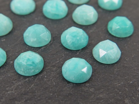 Amazonite Rose Cut Round Cabochon ~ Various Sizes
