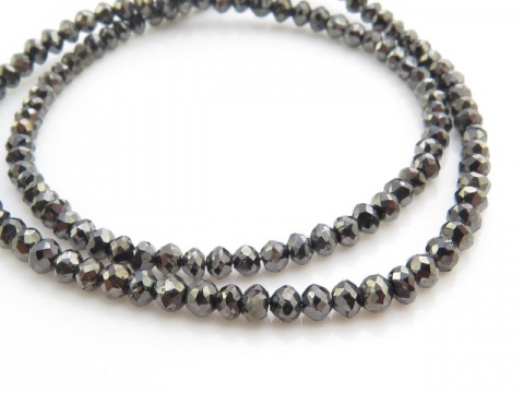 Black Diamond Faceted Bead 2.25-2.75mm ~ SINGLE