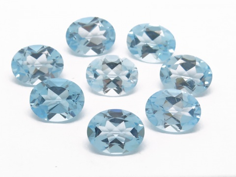Sky Blue Topaz Faceted Oval ~ Various Sizes