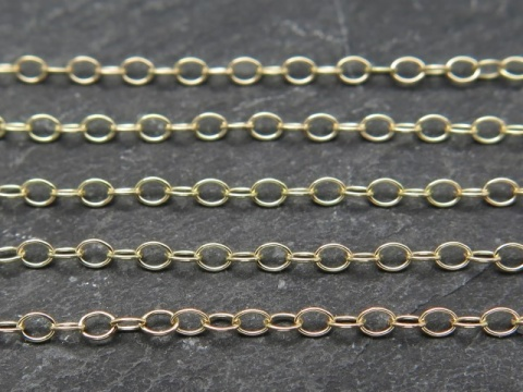 Gold Filled Cable Chain 2 x 1.4mm ~ by the Foot