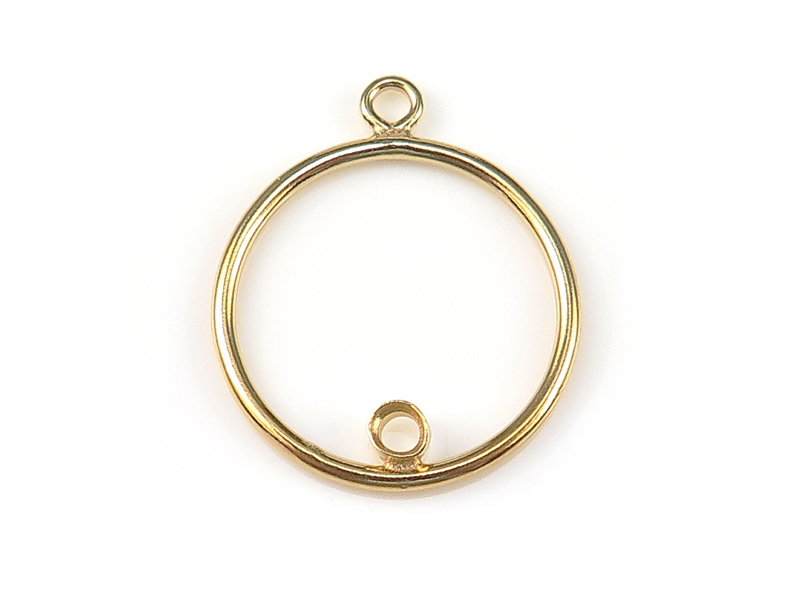 Gold Filled Round Drop With 2mm Bezel Setting 15mm