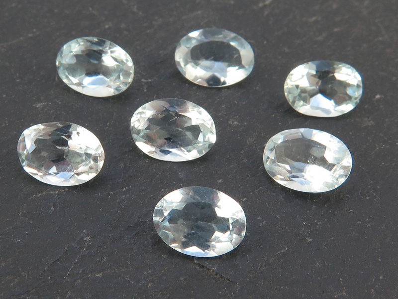 Aquamarine Faceted Oval 7mm x 5mm