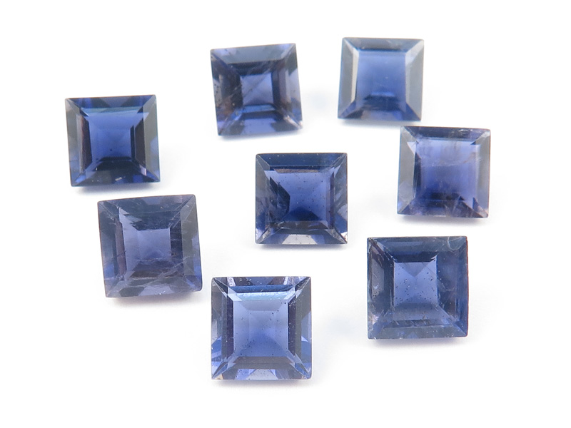 Iolite Faceted Square 6mm