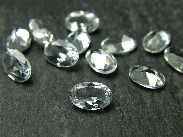White Topaz Faceted Oval ~ Various Sizes